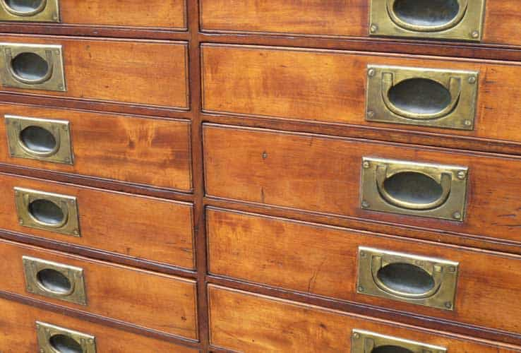 Antique collector drawers