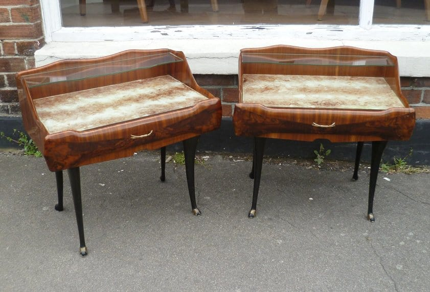 Pair of Italian 1950's bedside tables