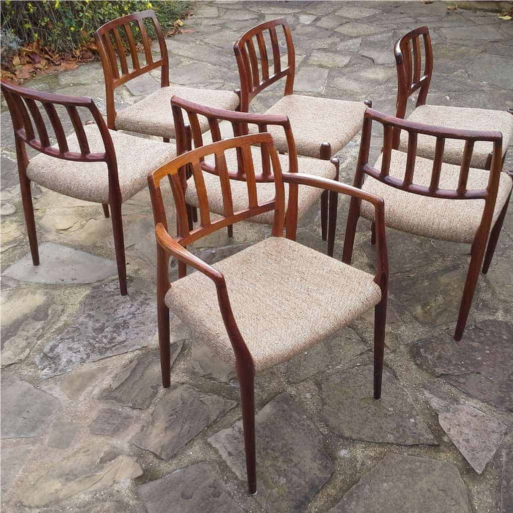 Niels Moller rosewood chairs model 83