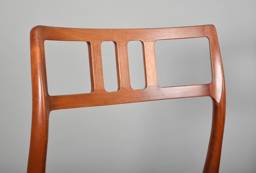 SOLD A set of 4 teak dining chairs by Niels O Moller model 79
