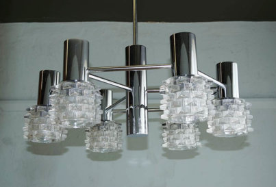 mid-century chrome light