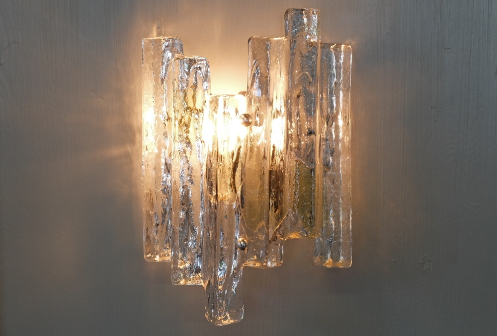 Pieces from our archive j t kalmar ice glass wall light 1960s aloadofball Images