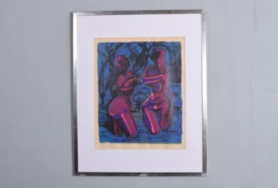 Horne Shepherd screen print 'The Bathers'