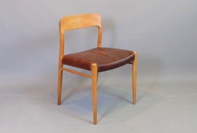 Neils O Moller model 75 oak dining chair Danish midcentury modern