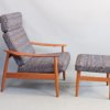 Arne vodder Model FD164 reclining armchair and foot stool