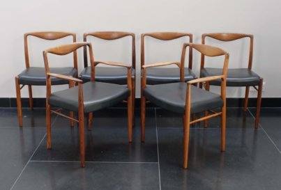 Kai Lyngfeldt Larsen Rosewood dining chair armchair by Soren Willadsen Danish 1960's