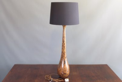 Pair of 1950's wooden table lamps