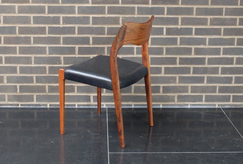 Arne Hovmand Olsen Rosewood dining chairs model 71 produced by J L Moller 1960's Danish