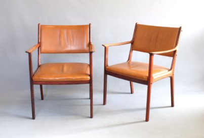 Rosewood Danish 1960s Armchair Model PJ412 by Ole Wanscher for Poul Jeppesen