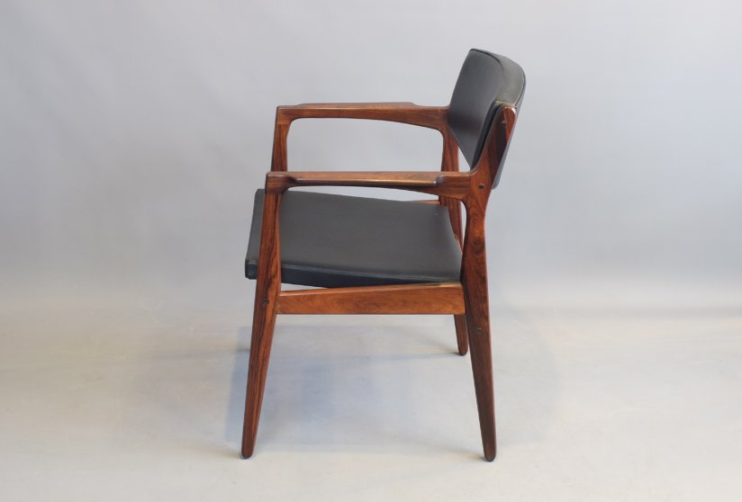 mid-century rosewood desk chair