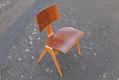 1950's Robin Day walnut HilleStak chair