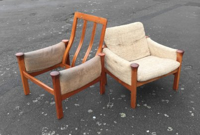 Arne Vodder armchairs model 162 for CADO 1970's Denmark