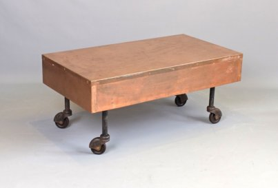 Copper coffee table