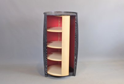 Ash and maple cabinet
