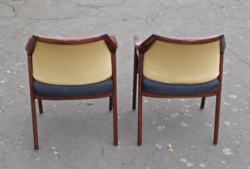 A pair of armchairs produced by Slagelse Mobelværk, Denmark 1960's