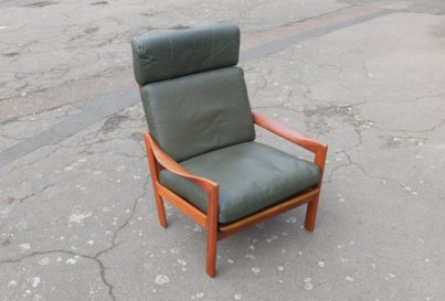 High Back Illum Wikkelso teak armchair