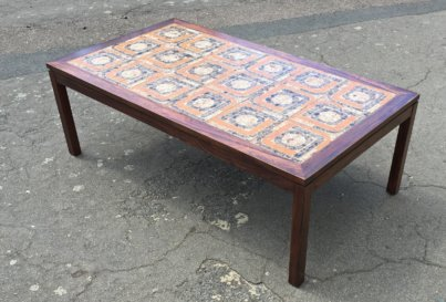 Danish rosewood and tiled 1960's coffee table