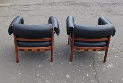 Arne Norell rosewood armchairs