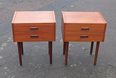 Pair of teak bedsides Danish 1960's