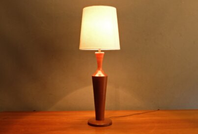 1960's Danish teak table lamp