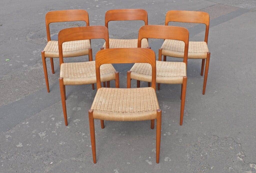 Niels Møller Model 75 Teak Dining Chairs