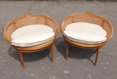 Pair with cushions